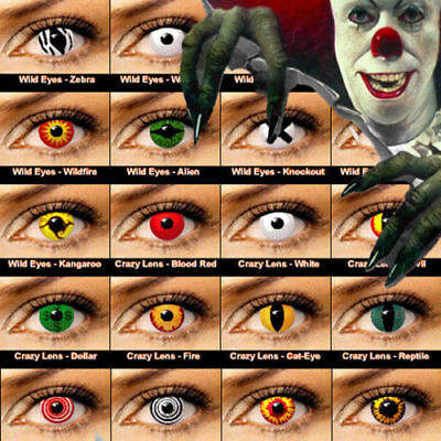 Crazy Halloween Contact Lenses Cosplay color contact lens color ONE PAIR