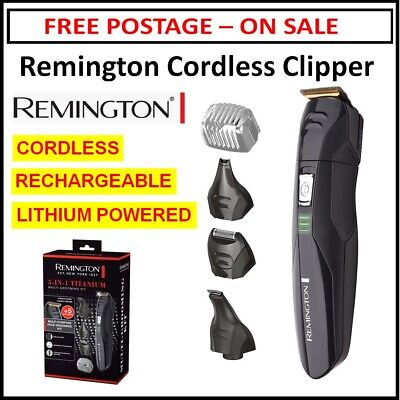 Remington Mens Grooming Kit Beard Hair Trimmer Clipper Shaver Cordless Clippers