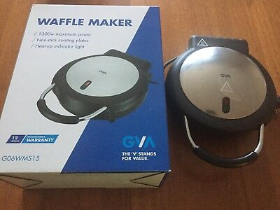 WAFFEL ELECTRIC WAFFLE GAUFRES Maker-Used once only