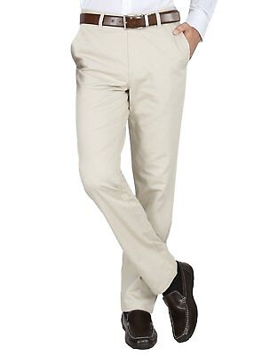 Men'S Trousers Collection Tailored Fit Flat Front Solid Formal Pants For Office
