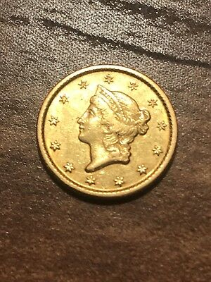 1849-O Gold Liberty $1 Dollar Type 1! Very Rare Great Eye Appeal! Free Shipping*