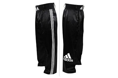 Adidas Kickboxing Pants Satin Trousers Kick Boxing Bottoms Black White Mens Kids