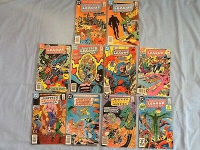 lot of 10 vintage JUSTICE LEAGUE OF AMERICA comic books