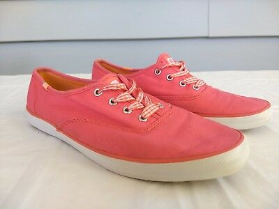 00116259954 Keds Womens Size 7 Champion Canvas Oxford Sneaker Plimsolls Casual Pink  Lace Up