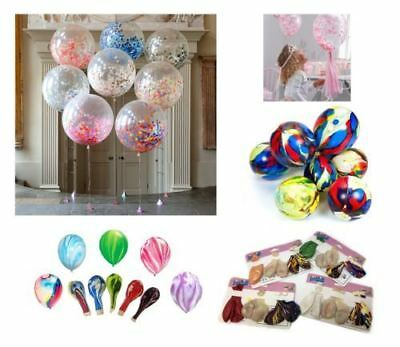 "12"" 6 Mix Confetti Filled Balloons Birthday Party Wedding Decorations Girl Boy"