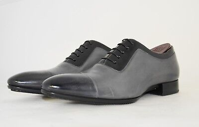 MAN-8eu-9us-OXFORD CAPTOE-GREY CALF-VITELLO GRIGIO-RUBBER SOLE-SOLA GOMMA