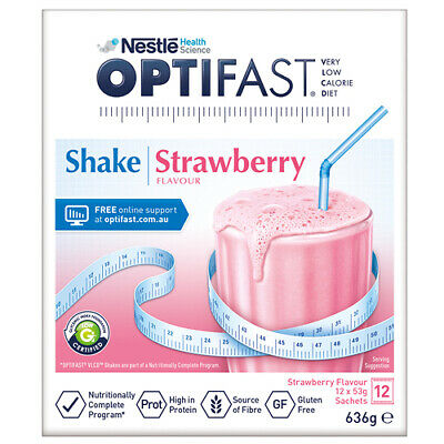NEW Optifast VLCD Strawberry Shake - 12 x 53g Sachets
