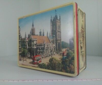 Vintage Thorne Toffee Tin England. Westminster Hall, The Guards, Wellington Arch