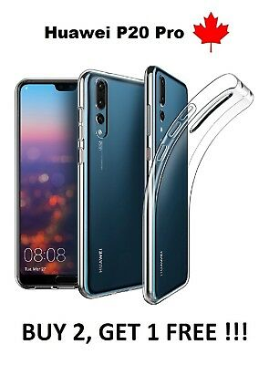 For Huawei P20 Pro - Transparent Thin TPU silicone rubber Soft Case Cover Canada