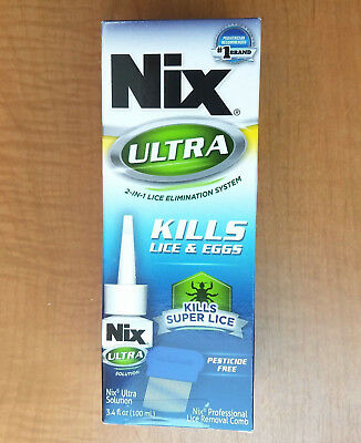 3-PACK Nix Ultra 2 in 1 Lice Elimination System KILLS SUPER LICE 3.4oz EXP 2019