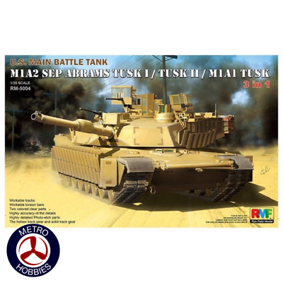Rye Field Model 1/35 M1A1 TUSK I / M1A2 TUSKI/ TUSKII 3 in 1 RM-5004 Brand New