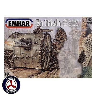 Emhar 1/35 British Artillery WWI Figures and Gun EM3502 Brand New