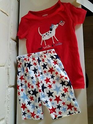 gymboree girls red white and cute pajamas $24.95 retail 18-24 month