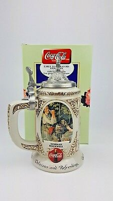 Coca Cola Early Illustrators Rockwell Sundblom Wyeth Collectible Stein F001