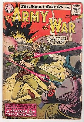Our Army at War reader LOT (6) GD SGT ROCK Easy Co. Joe Kubert DC silver 1964-66
