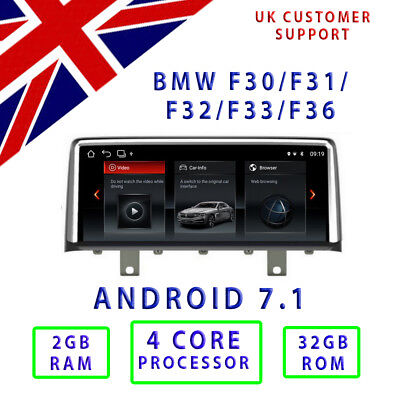 BMW 3 Series 4 Series F30 F31 F32 F33 F36 ANDROID 7.1 Radio GPS Head Unit 10.25