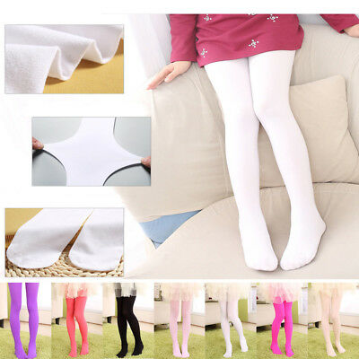 Girls Kids Tights Pantyhose Hosiery Ballet Dance Socks Opaque Candy 9 Colors