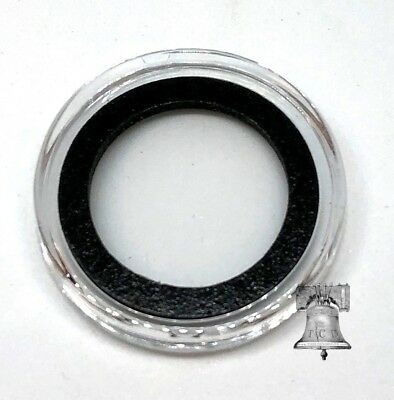 50 Air-Tite 18mm White Ring Coin Holder Capsules for Dimes