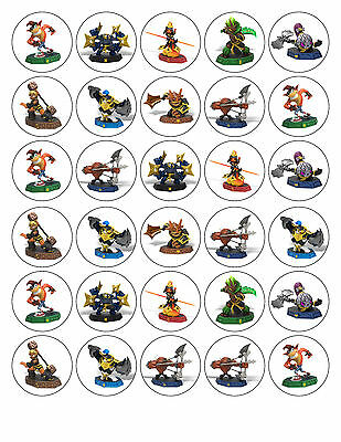 30 Skylanders Imaginators Party Edible Icing Cupcake Toppers 3.8cm