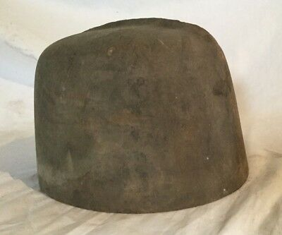 Vintage Antique Wooden Hat Mold Wood 5 6 7/8 900 Millinery Form Block