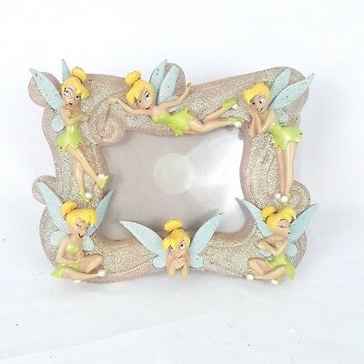 DISNEY TINKERBELL AND Flowers Picture Frame Holds 3x4 Photo Peter ...