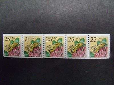 US Postage Stamps 1988 Honeybee Coil Stamp Scott 2281 5-25¢
