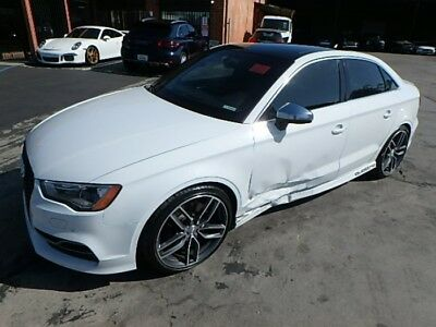 2016 Audi S3 2.0T Premium Sedan quattro S tronic 2015 Audi S3 Salvage Damaged Project Repairable! Extra Clean! Priced To Sell!!!
