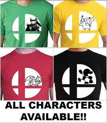 Super Smash Bros Ultimate T-Shirt! Nintendo Switch ALL CHARACTERS!