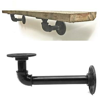 Steampunk Industrial Steel Pipe Shelf Bracket Holder Wall Decor Iron Retro Home