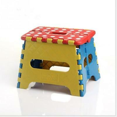 Portable Plastic Child Stool Folding Chair Bathroom Step Children Seat Footstool