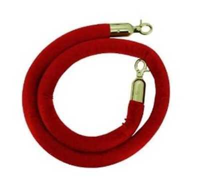 Red Twisted Barrier Rope With Gold Ends X 4