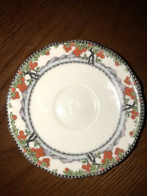 VINTAGE ART DECO BONE CHINA AYNSLEY ORANGE TREE SAUCER Excellent Shape! No S/H!!