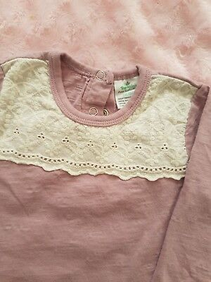 TOPOMINI Baby body 74/80 langarm Rosa Pure Collection
