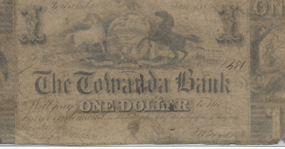 "$1 ""horses"" (Towanda Bank) 1800's ""horses"" (Towanda Bank) Horses >>>Rare Item !!"
