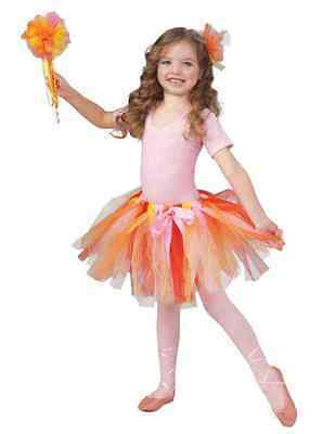 Orange Yellow Red Tutu Dancewear Fairy Pixie Sprite Girl's Costume