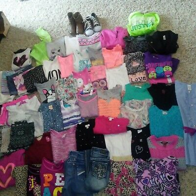 HUGE MIXED LOT OF 66 BACK TO SCHOOL! Summer Fall Winter Girls Clothes 6-6x 7-8