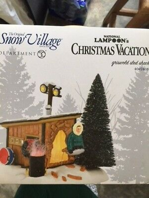 DEPT 56 NATIONAL LAMPOON'S Christmas Vacation GRISWOLD SLED SHACK NIB *Sealed*