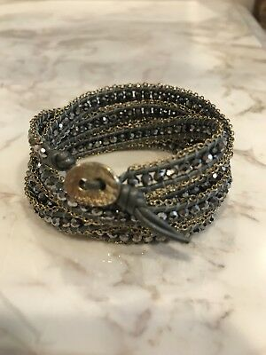 Nakamol Wrap Bracelet With Hemae And Gold Chain Excellent