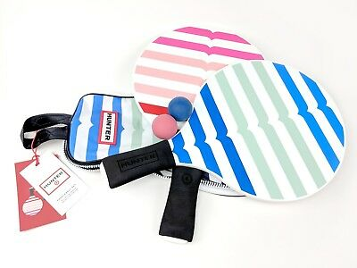 Hunter for Target ~ Beach Racquet Paddle Ball Game Set w Tote Bag Pink Blue NWT