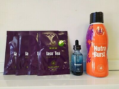 TLC Slimming Solution Kit-Resolution Drops, Nutra burst, Iaso Tea 1 Month Supply