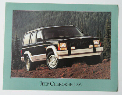 JEEP CHEROKEE 1996 dealer brochure - French - Canada - ST501000218