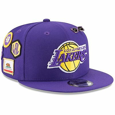 bfcfb536ff5bb ... discount code for los angeles lakers hat adj mens 2018 nba draft hat  9fifty snapback new