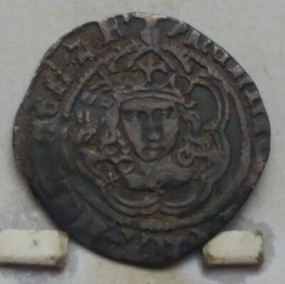 Great Britain Henry VII Silver Half Groat Coin V F