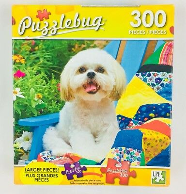 NEW Jigsaw Puzzle 300 Pieces ~ SHIH TZU PUPPY SITTING ON A QUILT
