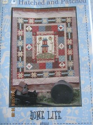 HOME LIFE quilt pattern by hatched and Patched finished size 60 x 70 inches
