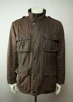 Barbour A996 Trooper Waxed Jacket Rustic Size L