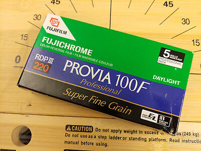 Fuji Provia 100F 220 out of date (pro pack of 5 rolls)