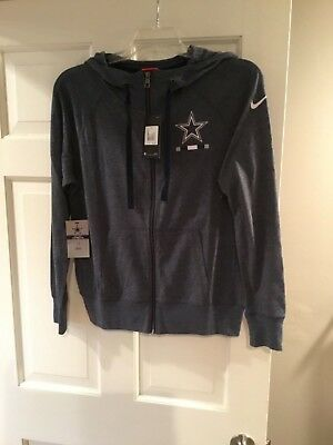 2a40619f73ea NWT Nike Women s Dallas Cowboys Gym Vintage Full Zip Hoodie-SMALL MEDIUM XL