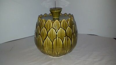 Belmar Of California Usa Pottery Green Cookie Biscuit Jar Container