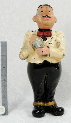 Antique Advertising? Bartender With Cocktail Shaker Figurine